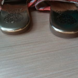Vince Camuto Shoes - Orange and Gold Vince Camuto Bling Sandals 7.5